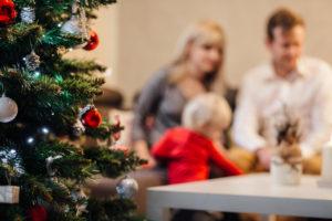 stastie vianoce rodina